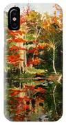 Prentiss Pond, Dorset, Vt., Autumn IPhone Case