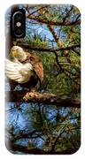 Preening Bald Eagle IPhone Case