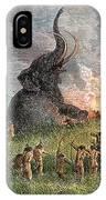 Prehistoric Mammoth Hunt IPhone Case