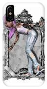 Pretty 3d Girl Sneaks Out Of Frame IPhone Case