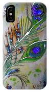 Pretty As A Peacock IPhone Case by Denise Tomasura