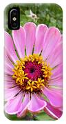 Pretty In Pink Zinnia IPhone Case