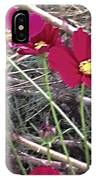 Pretty Red And Yellow Flowers In The Twigs IPhone Case