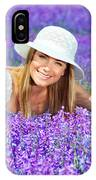 Pretty Woman On Lavender Field IPhone Case