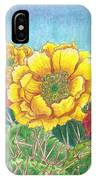 Prickly Pear Cactus Flowering IPhone Case