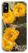 Prickly Pear Cactus Flowers IPhone Case