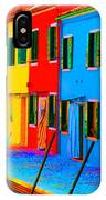 Primary Colors Of Burano IPhone Case