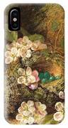Primroses And Bird's Nests On A Mossy Bank IPhone Case