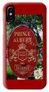 Prince Albert Guest House Sign Provincetown IPhone Case