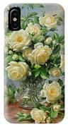 Princess Diana Roses In A Cut Glass Vase IPhone Case