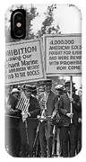 Prohibition Protestors IPhone Case