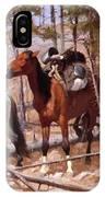 Prospecting For Cattle Range 1889 IPhone Case
