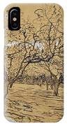 Provencal Orchard Arles  March - April 1888 Vincent Van Gogh 1853  1890 IPhone Case