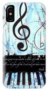 Psalm 40/3 Blue IPhone Case