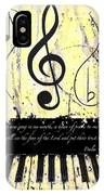 Psalm 40/3 Yellow IPhone Case