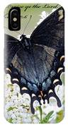 Psalm Scripture - Swallowtail IPhone Case