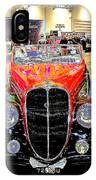 Psychedelic 1947 Delahaye 135m Letourner Et Marchand Cabriolet IPhone Case