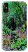 Psychedelic Fern Gully On Mt Tamalpais IPhone Case