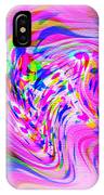 Psychedelic Swirls On Lollypop Pink IPhone Case