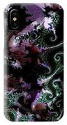 Pteridophytes In Mauve IPhone Case