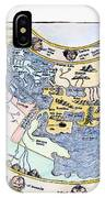 Ptolemaic World Map, 1493 IPhone Case