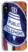 Public Telephone Sign IPhone Case