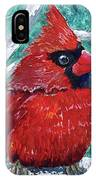 Pudgy Cardinal IPhone Case