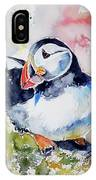 Puffin On Stone IPhone Case
