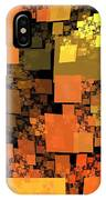 Pumpkin Autumn Cubes IPhone Case