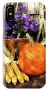 Pumpkin Corn And Asters IPhone Case