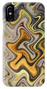 Pumpkin On Fence Abstract # 6822 Wwt IPhone Case