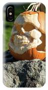 Pumpkin Skull IPhone Case