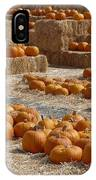 Pumpkins On Bales IPhone Case