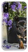 Puppy Dog With Flowers IPhone Case
