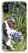 Puppy In The Blubonnets IPhone Case