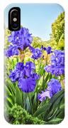 Pure Sapphire Iris IPhone Case
