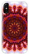 Purple And Gold Flower IPhone Case