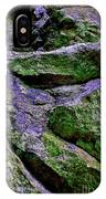 Purple And Green Rock IPhone Case