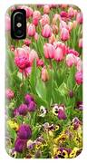 Purple And Pink Tulips In Canberra In Spring IPhone X Case