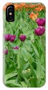 Purple And Red Tullips IPhone Case