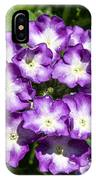 Purple And White Bouquet IPhone Case