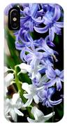 Purple And White Hyacinth IPhone Case