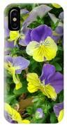 Purple And Yellow Pansies IPhone Case