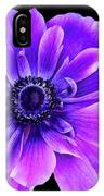 Purple Anemone Flower IPhone Case