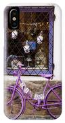 Purple Bicycle IPhone Case