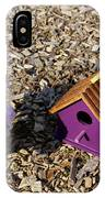 Purple Birdhouses 2 IPhone Case