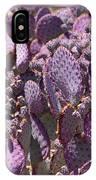Purple Cactus Canvas IPhone Case