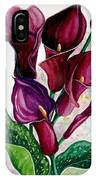 Purple Callas IPhone Case