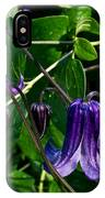 Purple Clamatis Bells IPhone Case