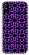 Purple Dots Pattern On Black IPhone X Case
